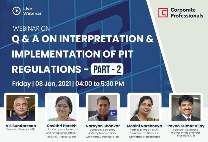 Webinar on Q & A on Interpretation & Implementation of PIT Regulations- Part - 2