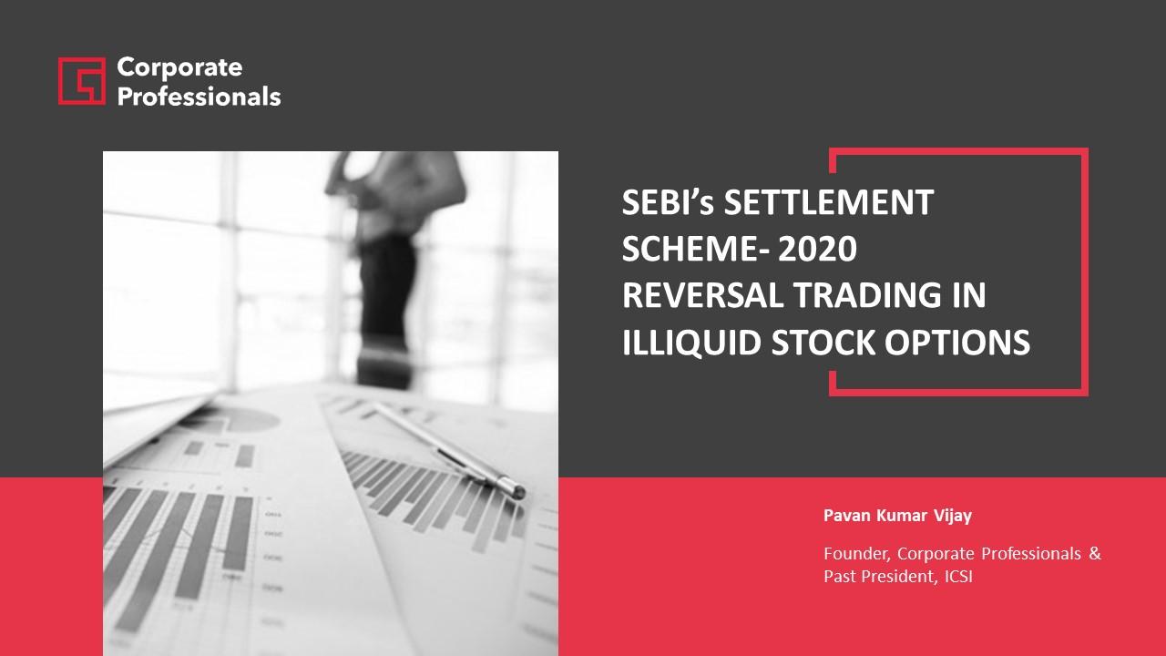 Decoding the SEBI Settlement Scheme 2020 – Illiquid Stock Options